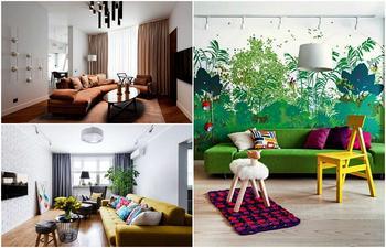 Интересные идеи оформления современной гостиной