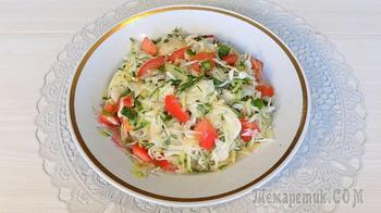 Простой салат из капусты с редисом