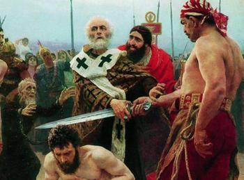 Когда святитель Николай хватается за меч