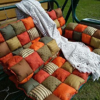 Уютные подушки - сидушки