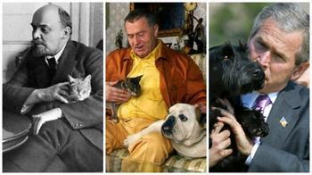 Домашние любимцы известных политиков