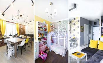 Желтый цвет в московских квартирах: лучшие примеры