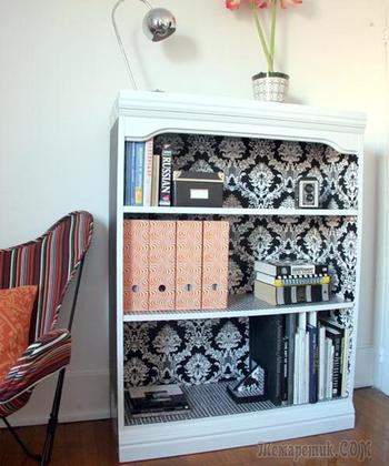 45 способов обновить шкаф с помощью обоев