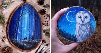 Необычное искусство, живопись по дереву