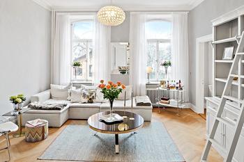 Приветливая светлая квартира в Стокгольме