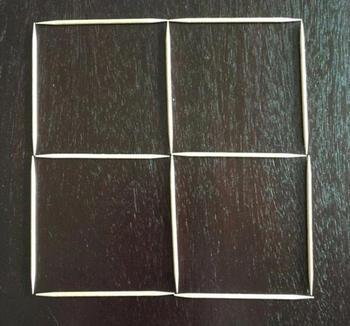 Головоломка в тренде: сможете ли вы превратить 4 квадрата в 3 за три хода?