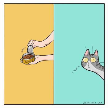 Художник иллюстрирует свою повседневную жизнь, и его комиксы будут понятны всем владельцам кошек