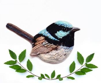 Броши в виде птиц от рукодельницы из Варшавы