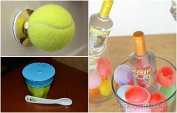 Интересные и полезные способы применения в быту воздушных шариков и теннисных мячиков