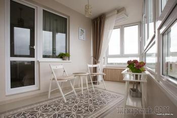 Обустройство балкона в стиле хюгге