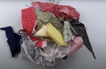 Яркая идея из ненужных обрезков ткани