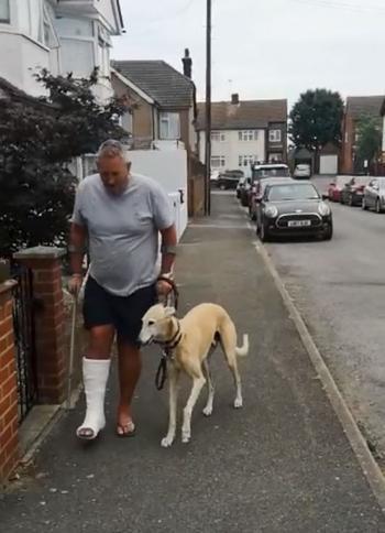 Травмированный мужчина потратил 400 долларов на ветеринара для своей хромающей собаки. Но оказалось, что она совсем не хромая…