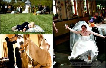 Забавные свадебные моменты, запечатленные фотографами с отменным чувством юмора