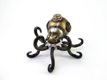 Впечатляющие скульптуры, выполненные в стилях стимпанк и киберпанк