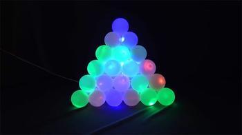 Идея декора из шариков для пинг-понга