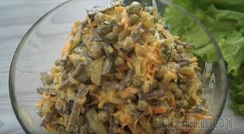 Печеночный салат. Вкуснейший салат из печени