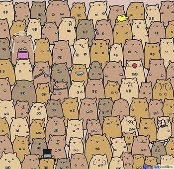 Сможете ли вы найти картофель в толпе хомячков?
