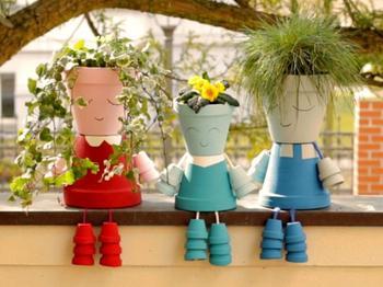 11 удивительных украшений для дома с использованием цветочных горшков и ваз!