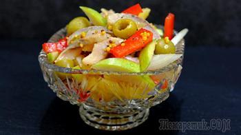 Салат Новинка с селедкой – Очень простой вкусный салат без майонеза!