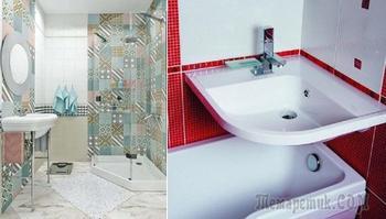 20 идей, как сделать чертовски привлекательной ванную размером с чулан