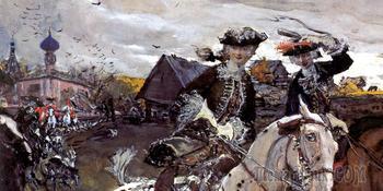 Искусство псовой охоты в картинах русских художников. (Борзые особенности национальной охоты)
