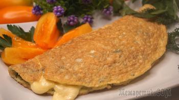 Овсяный блин на завтрак с сыром - отличный вариант для завтрака!