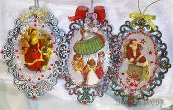Ажурные медальоны на елку. Это и многое другое от мастера Натальи Рассохиной.