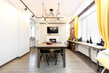Эклектичный интерьер квартиры на 96 кв. м.