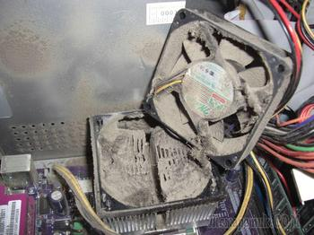Чистим компьютер от пыли