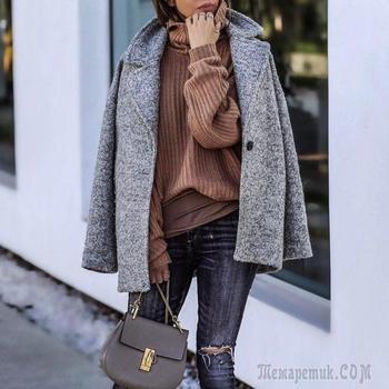 25 стильных образов со свитерами осень-зима 2017-2018