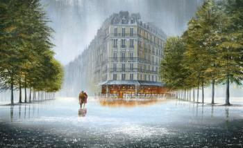 Дождь в живописи Джеффа Роланда