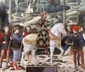 """Беноццо Гоццоли """"Процессия Трех Королей """" XV в."""