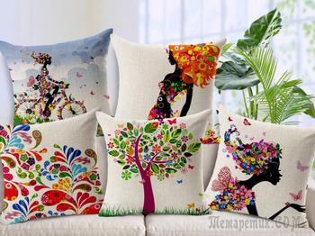 Пошив и декор подушек, наволочек своими руками