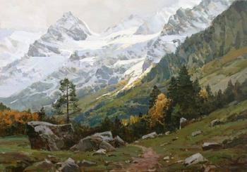 Величественные горные пейзажи художника, который влюбился в Кавказ и написал более 1000 картин
