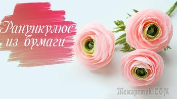 Создаем ранункулюс из гофрированной бумаги! Очень красивые цветы