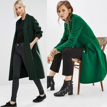 Зеленое женское пальто на 2017 год: 100 фото модных моделей