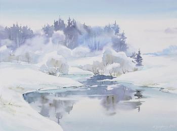 Акварельные пейзажи Марии Гинзбург