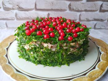 Потрясающий слоеный салат «Сосновый бор»