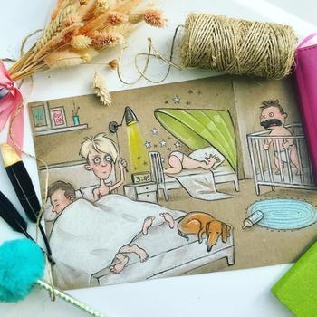 Все «прелести» материнства: Молодая мама нарисовала иронично-правдивые иллюстрации о своей жизни