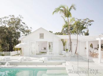 Белее белого: чудесный домик с бассейном на побережье в Австралии
