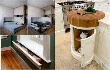 Решения, которые станут настоящим спасением для владельцев небольших квартир