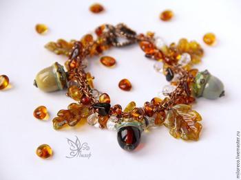 Собираем браслет-гроздь «Очей очарованье»