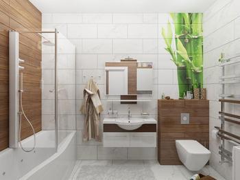 Современные ванные комнаты: фото и идеи оформления