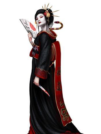 Японсикие  гейши-ниндзя и их оружие