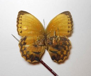Удивительная роспись по бабочке