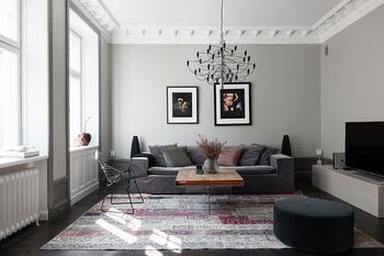 Элегантный скандинавский интерьер в стильных пастельных тонах
