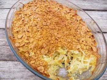 Посыпьте кукурузными хлопьями картофель / Удивительное блюдо!
