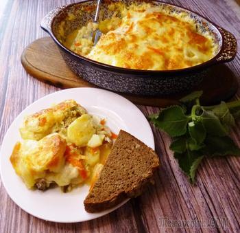 Филе скумбрии с картошкой в духовке