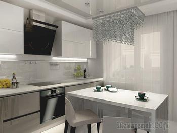 Кухня: атмосфера спокойствия в нейтральных тонах