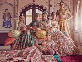 Традиционная индийская свадебная мода с прикосновением современной эстетики в фотографиях Таруна Кхивала
